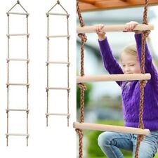Kids Climbing Rob Ladder Wooden Children In/Outdoor activities Safe Game Toys