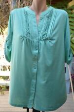 SIZE S-14/16 NEW Spearmint. Pintuck Pleat Button Front TOP. RRP$39.99. NEW