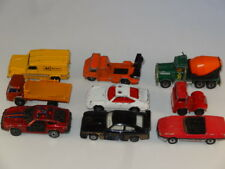 9 various matchbox and corgi cars job lot
