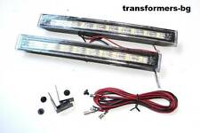 2 x Running Daytime Lights Lamps White 6000k Front New Style 2 x 9 LED DRL New