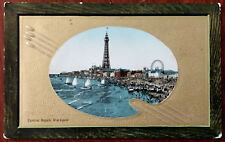 Central Beach Blackpool, Valentine & Son, Vintage Embossed Post Card