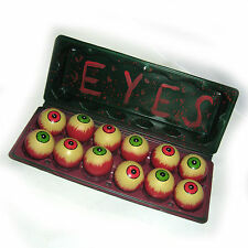 Carton of Gory Eyes 12 Eyeballs Human Body Parts Halloween Party Decoration