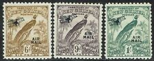 NEW GUINEA 1931 DATED BIRD AIRMAIL 6D 9D AND 1/-