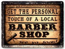 BARBER SHOP METAL sign LOCAL hair salon VINTAGE style nice GIFT wall decor 004
