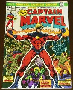 CAPTAIN MARVEL #32 - MARVEL COMICS - 1974 - THANOS, ORIGIN OF DRAX & MOONDRAGON