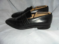 GRAVATI MEN'S BLACK LEATHER SLIP ON SHOE SIZE UK 10 EU 44 US 11M VGC