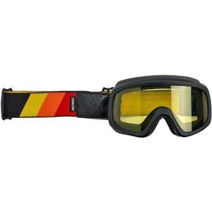 Biltwell Overland 2.0 Tri-Stripe Motorcycle Goggle - Black R/Y/O