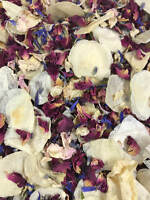 Natural Biodegradable Wedding Confetti Red & Ivory Petals, Dried Vintage Flower