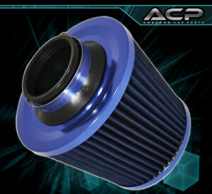 """Racing Short Ram/Cold Air Induction Intake 3"""" Reducer 2.5"""" Blue Filter For Chevy"""