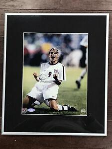 Mia Hamm on Knees Celebration U.S World Cup Signed Photo 8x10 Framed Steiner COA