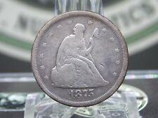 "1875 ""S"" Seated Liberty Twenty Cent Piece Silver 20c #10   ECC&C, Inc."