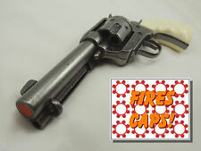 """Replica M1873 """"FAST DRAW"""" GRAY PISTOL Colt Peacemaker White Grooved Grips"""