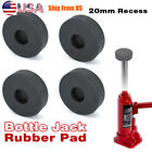 4pc Hydraulic Bottle Jack Slotted Adapter Pad Rubber Protection 20mm Hole Bottom