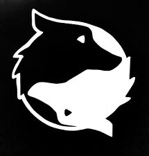 Husky ying and yang vinyl decal (one color)