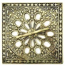 Solid Brass Air Vent - antique ventilation grating adjustable grille cover