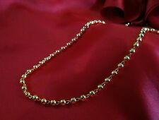 one gram gold plated ball chain necklace 18 inch