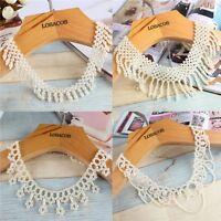 European Style Choker Necklace Imitation Pearl Beads Tassel Pendant Collar