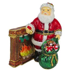 RUCINNI Santa Claus with A Bag of Presents Trinket Box