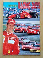 Ferrari Racing Days 1996 Programm, Formel1 Schumacher Historic- + F355-Challenge
