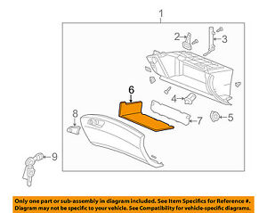 77501TL0G02 Acura OEM 09-14 TSX Glove Compartment Box-Separator