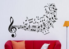 Music Wall Decal Vinyl Sticker Music Notes Treble Clef Interior Art Decor (1mu6)