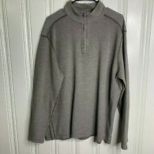 Kirkland Signature Brown Pima Cotton 1/4 Zip Pullover Size XL Style 987183 Mens