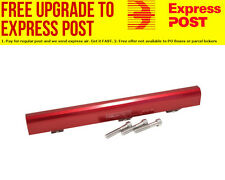 Aeroflow Billet EFI Fuel Rail Kit - Red Finish suit Mitsubishi 4G63 EVO I-III