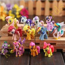 12 PCS My Little Pony 5cm Figure Cake Topper Decor Toy set Doll model Kids Gift