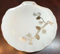 Set of 3 Ucagco Ceramics Japan  Gold Pine-tree Plates