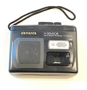 Vintage Aiwa TP-VS470 Handheld Cassette Player Voice Recorder V-Sensor