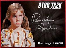 STAR TREK TOS 50th PAMELYN FERDIN as Mary Janowski SILVER Autograph VERY LIMITED