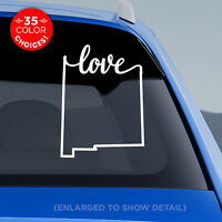 """New Mexico State """"Love"""" Decal - NM Love Car Vinyl Sticker - add heart to a city!"""
