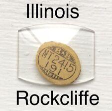 Vintage NOS Illinois Rockcliffe Glass Watch Crystal Wristwatch Antique