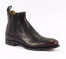 Gucci Cambridge Goodyear Plum Leather Boots EU 37 US 7 Made in Italy New $950