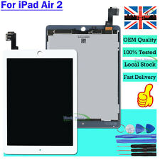For Apple iPad Air 2 White Touch Screen LCD Display Digitizer A1566 A1567 UK