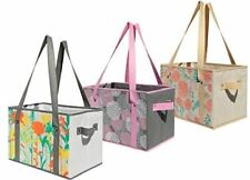 Earthwise Deluxe Collapsible Reusable Shopping Box Grocery Bag ( Set of 3 )