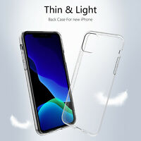 Clear Gel Silicone Shockproof Thin Slim Case Cover For Apple iPhone 11 Pro Max