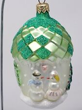 Patricia breen glass ornament: Christmas Acorn House