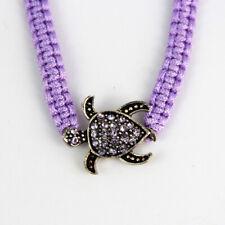 Lila Armband mit glitzernder Meeresschildkröte, Universalgröße