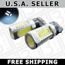 2x WHITE 3156 3157 3057 7.5W PLASMA LED Light Bulbs Back Up Reverse Signal Brake