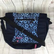 cdccb4a273 Jansport Blue Corduroy Hawaiian Adjustable Strap Messenger Book Bag  Crossbody