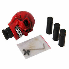 1x Red Skull model Manual Interior Gear Shift Knob Shifter Lever Cover Universal