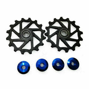 2PCS Rubber Seal Two Seals 16T Ceramic Derailleur Pulley/Jockey For Bicycle SRAM