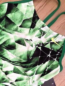 NWT NIKE 26 KALEIDOTECH Cut Out Tank Girl 10 Green One Piece Swimsuit 💚🏝