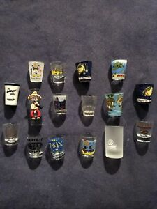 Shot Glasses (19) Individual Different Locations