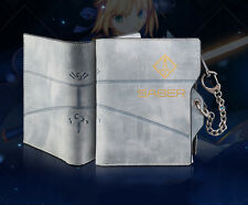 2019 Gray Fate Stay Night Fate/Grand Order Saber Men Pu Bifold Card Wallet Purse