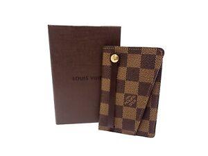 Authentic LOUIS VUITTON Damier Ebene Key Case Holder N62660 Clochette GM Browns