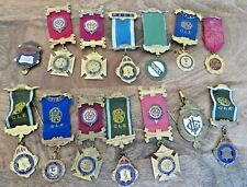 GROUP OF VARIOUS RAOB BREAST JEWELS - DIFFERENT LODGES AND DATES (2A)