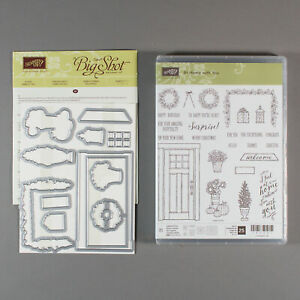 Stampin Up At Home with You Stamp Set with At Home Framelits Dies - House Door