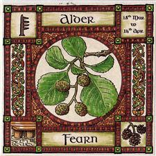 BIGLIETTO D'AUGURI ALBERO DI ONTANO 18th 14th Mar-Apr Celtico-Wiccan pagane COMPLEANNO ALFABETO ogamico